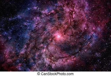 銀河, らせん状に動きなさい, スペース