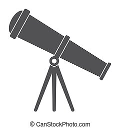 Telescope Vector Silhouette - Telescope for astronomy,...