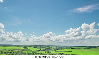 Time lapse daytime sky with fluffy clouds Seamless Loop -...