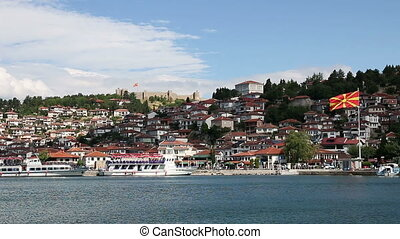 city and lake Ohrid Macedonia