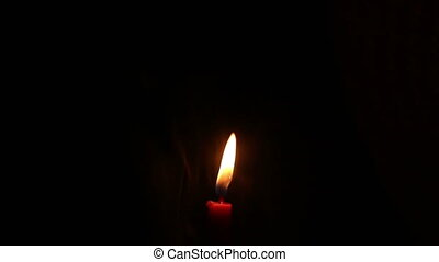 smoke with candle light isolated black