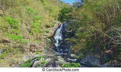 Flycam Removes from Nice Waterfall Start in Highland -...