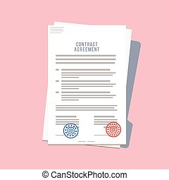 Contract Agreement Paper Blank with Two Seals