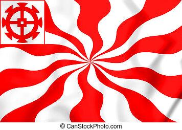 DrapeauMulhouse - 3D Flag of Mulhouse, France. 3D...
