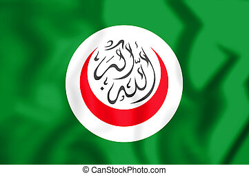 3D Flag of Organisation of Islamic Cooperation.