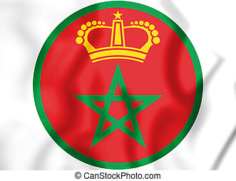 3D Roundel of the Morocco. 3D Illustration.