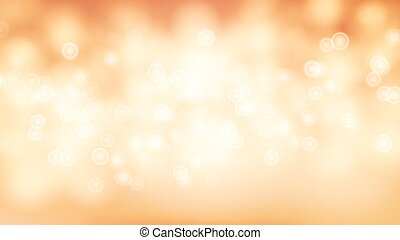 Orange Sweet Bokeh Out Of Focus Background Vector. Abstract...