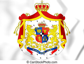 Principality of Romania (1872-1881) coat of arms. 3D...