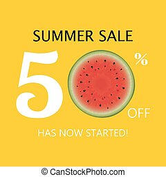 Summer Sale Poster With Watermelon