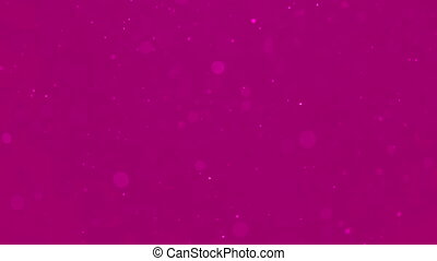 Moving particles blur on pink background