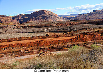 Uranium Mine Tailings Clean-Up near Moab