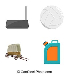 sport, travel, trip and other web icon in cartoon style....