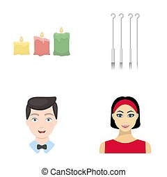 cosmetic, leisure, business and other web icon in cartoon...