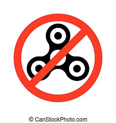 Prohibition sign ban spinner