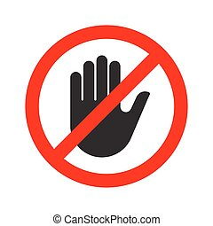 Stop hand sign. Vector illustration.