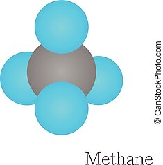 Methane 3D molecule chemical science - Methane 3D molecule....