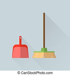 Broom and a scoop