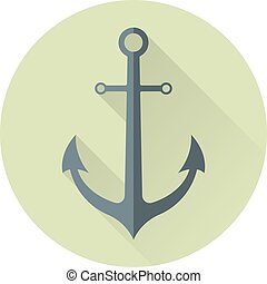 Anchor in flat style