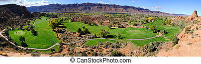 Moab Desert Golf Course Panorama