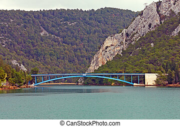 Bridge over Krka river, Croatia - Bridge over beautiful Krka...