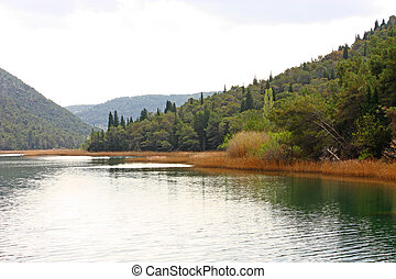 Krka river, Croatia - Part of beautiful Krka River near...
