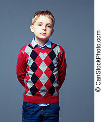 boy with neutral emotion - nautral emotion on the face of a...