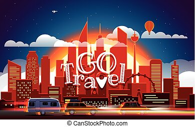 Season travelling concept. Vector illustration