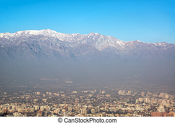 Santiago and Andes Mountains
