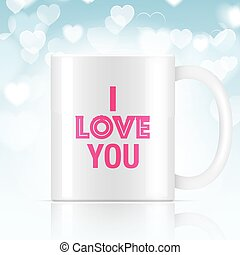 white vector coffee mug - White vector coffee mug with I...