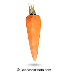 Vector illustration of a carrot