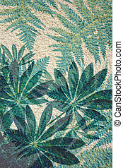 Artistic background with fern leaves