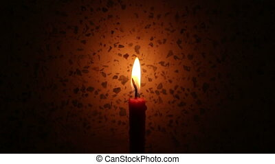 candle light on wall background