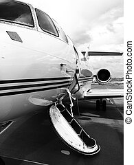 Private Jet parked at an Airport