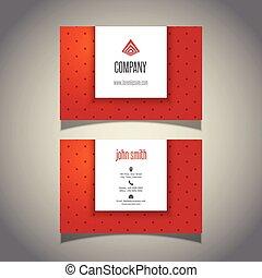 Polka dot business card