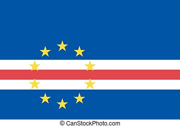 Cape Verde country flat style flag - Cape Verde national...