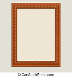 Brown vector frame