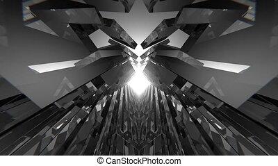 Infinite Geometric VJ Space - This 3D seamless loop...