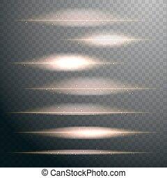 set of vector dark royal blue lens flares on transparent...
