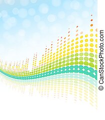 wavy digital equalizer abstract background. vector design...