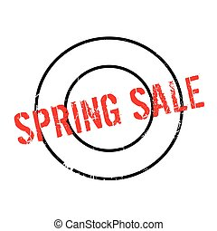 Spring Sale rubber stamp. Grunge design with dust scratches....