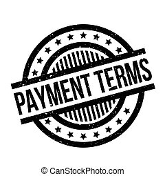 Payment Terms rubber stamp. Grunge design with dust...
