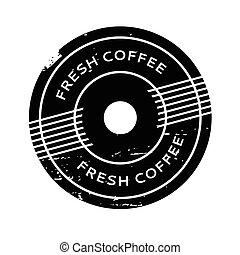 Fresh Coffee rubber stamp. Grunge design with dust...