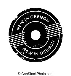 New In Oregon rubber stamp. Grunge design with dust...