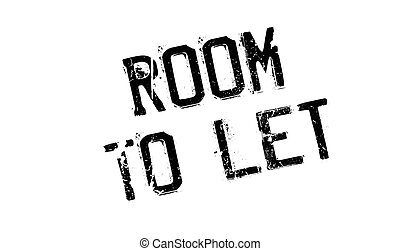 Room To Let rubber stamp. Grunge design with dust scratches....