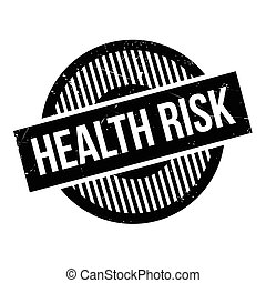 Health Risk rubber stamp. Grunge design with dust scratches....