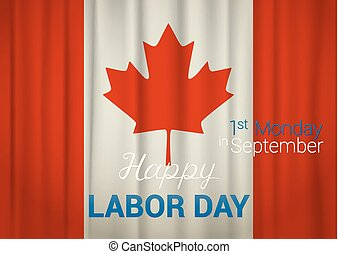 Happy Labor Day greeting. Canada 1st Monday in September. vector illustration