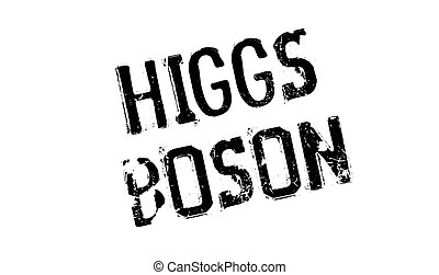 Higgs Boson rubber stamp. Grunge design with dust scratches....