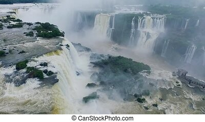 A view of the falling water of the Iguazu Falls. Shevelev. -...
