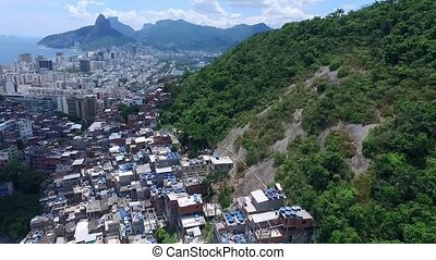Poor areas of Rio da Janeiro from a height. Shevelev. - Poor...