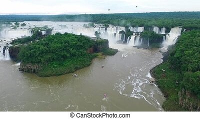 A complex of waterfalls fall into the river. Shevelev. - A...